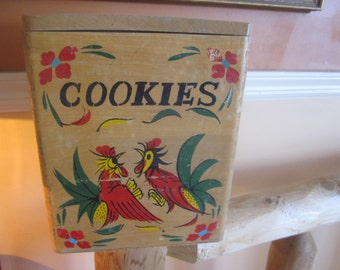 wood rooster cookie jar, kitchenware, cookie jars, roosters country kitchen