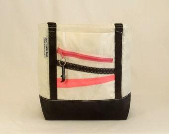 Recycled Sails, Sail Bag, Nautical Gift, Beach Bag, Nautical Bag, Gym Bag, Classic Tote, White Bag, Black Bag, Pink Bag (R2)