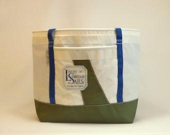 Large Tote Bag, Teacher Tote Bag, Nautical Tote, Travel Tote, Unisex Tote, Gym Bag, Sail Bag, White Bag, Forest Green Bag, Blue Bag (SL9)