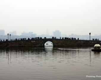 Busy Bridge In China Photograph