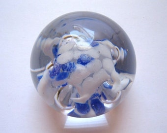 George Good Blue & White Paperweight