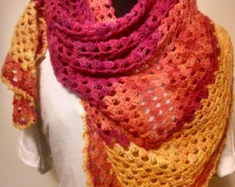 Sunrise / Sunset Shawl - Wrap