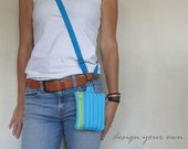 Small cross body bag in zippers. Design your own gadget case. Phone pouch, accessory purse, must have trending handbag.