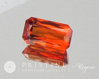 Spessartite Garnet Emerald Cut 11.6 x 6.6 MM January Birthstone