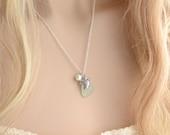Sea Glass Necklace Sea Turtle Necklace Sea Glass Pendant Sea Glass Jewelry Beach Glass Necklace Beach Glass Jewelry Sea Turtle Jewelry Gift