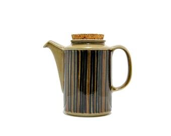 1960s Arabia Kosmos Made In Finland GOG Gunvor Olin Grönqvist Coffee Pot Missing Lid Midcentury Earthy Organic Handpainted 60s Vintage