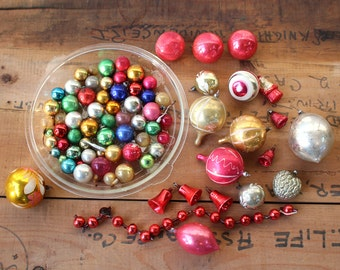 60+ antique Christmas ornament -1920s 1930s - vintage glass baubles sized from small for feather trees to large for regular trees