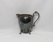 Antique Sheridan Silver on Copper Fancy Water Pitcher   Box BB