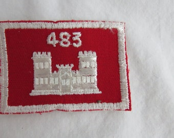 483th US Army Engineers Shoulder Patch Vietnam Era