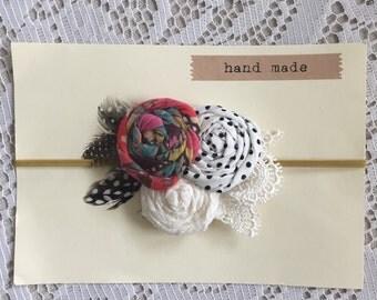 Baby Flower Rosette Headband - Boho style