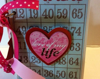 Love scrapbook premade pages mini album brag book Valentine's Day