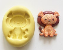 Lion baby Mold #1141 - silicone mold for crafts, jewelry, resin, porcelain, clay, candies, baking, plastic, metal and more