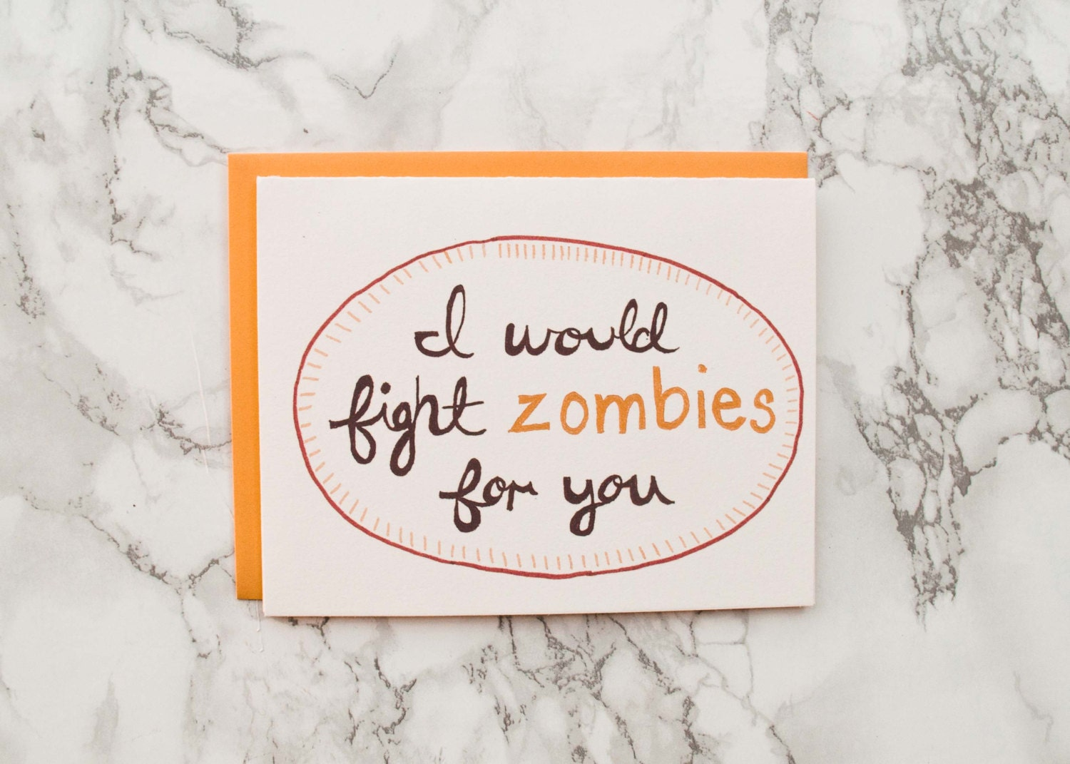 Zombie anniversary card funny valentines day eco