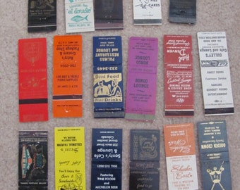 Lot of 17 Assorted Vintage Older Matchbook Matches Covers (#2)