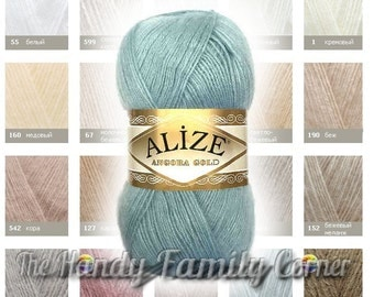 Alize Angora Gold. Variety of colors. DSH