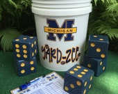 Yard-Zee - Customized YARD-ZEE games - Outdoor  Lawn Games - Lawn Dice - Yahtzee - Outdoor Recreation -Michigan University - Farkle