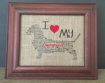 Dog Art Framed - Dachshund