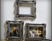 Dollhouse picture frame, shabby miniature, dollhouse decoration
