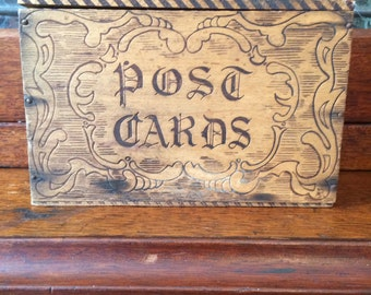 Post Card Pyrography Box Victorian