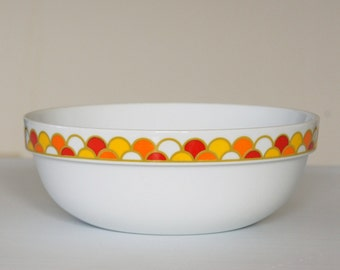 Georges Briard Carousel Bowl, Mid Century Serving Bowl