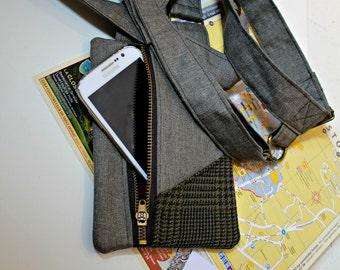 Shoulder phone holster / shoulder bag / Man bag / Revolver bag / Holster bag / Mens Phone holster / Construction bag / Builders bag