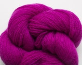 Lace Weight Recycled Cashmere Yarn, Vibrant Magenta Cashmere Lace Weight Recycled Yarn, 1890 Yards Available