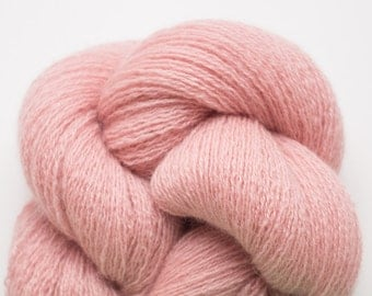 Lace Weight Recycled Cashmere Yarn, Dusty Pink Cashmere Lace Weight Recycled Yarn, 362 Yards Available