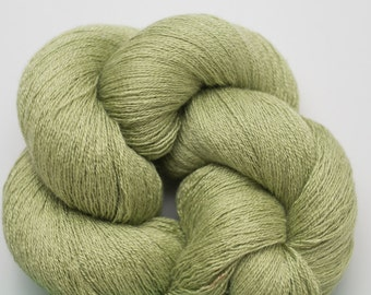 Spring Leaf Silk Cotton Cashmere Recycled Lace Weight Yarn, SCC00190