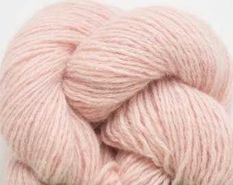 Light Soft Pink Lambswool Angora Nylon Blend Fingering to Sport Weight Reclaimed Yarn, 966 Yards Available