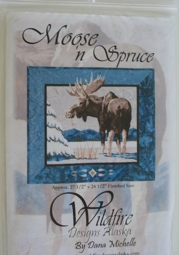 Quilt Pattern Moose Pattern Moose Quilt Wall Hanging Moose