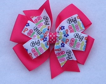 Big Sister Hair Bow~Big Sis Boutique Hair Bow~Large Pinwheel Hair Bow~Sister Hair Bows~Basic Boutique Bows~Simple Hair Bows~Big Sis Bows