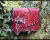 Zalinra shoulder bag, leaf embossed leather bag