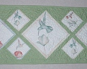 Hummingbird Quilted Table Runner