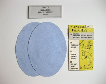 Elbow Patches - Gray Blue Ultrasuede - Set of 2
