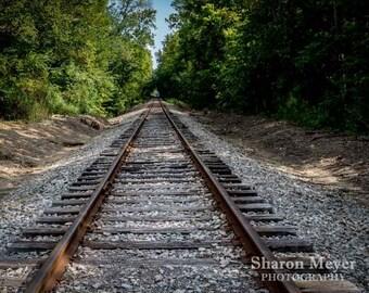Railroad Tracks,Fine Art Photo Print, Wall Decor, Tracks, Train Track Print, Rail, Train Tracks