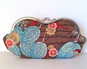 Flowering letters, a sunglass case, smartphone, eyeglass case or small clutch