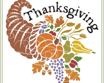 Cornucopia svg, Autumn, Thanksgiving SVG, vinyl cutting, greeting cards, SVG, iron on transfers, cricut, silhouette cutting