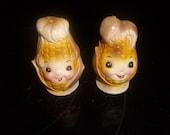 vintage pair salt pepper shakers set corn on the cob