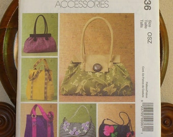 McCalls  M4936, Purse Pattern, 6  Different Styles,  McCalls Handbags, Fashion Accessories