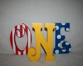 1st birthday centerpiece, Circus birthday, First birthday, Photo prop, Birthday decor, Red yellow, Wood letters, Wood sign, Birthday sign,