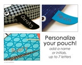 Reserved Listing / Personalize your Pouch - Add On to Your Order - Custom Hand Embroidered Name