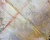 Naturally Dyed Vintage Cotton Handmade Napkins Repurposed  Eco-Dyed Logwood, Pomegranate