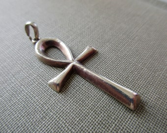 vintage Egyptian ankh sterling silver charm