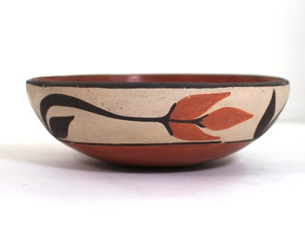Zia Pueblo polychrome  signed bowl