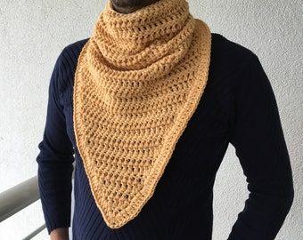 Crochet Scarf / Mens Gift / Cowl Scarf / Men Cowl Scarf / Infinity Scarf / Knit Scarf / Crochet Neck Warmer