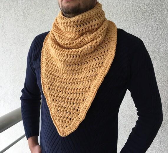 Mens Cowl Knitting Pattern : Items similar to Crochet Scarf / Mens Gift / Cowl Scarf / Men Cowl Scarf / In...