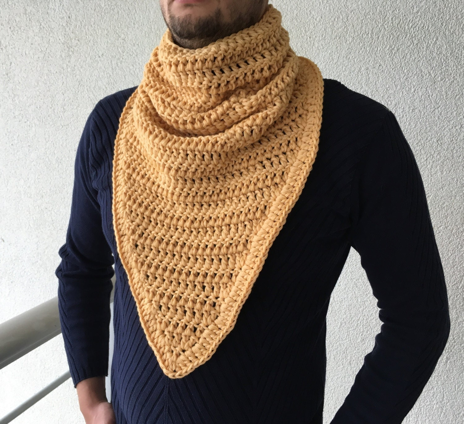 Crochet Scarf / Mens Gift / Cowl Scarf / Men by TheMailoDesign