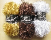 Special Offfer King Cole Tinsel Chunky knitting yarn - bronze, silver, gold