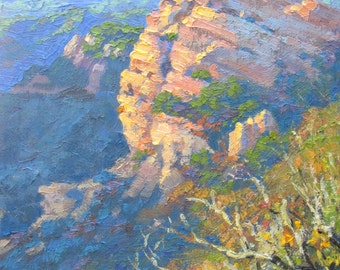 "Contemporary Plein Air Painting ""First Light, Eagle Rock"", California"