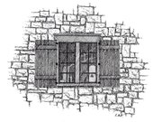 """Limited Edition Print of my Pen and Ink drawing called  """"Olde Window-St Augustine Fl"""" .sketch art. historical art, vignette art"""